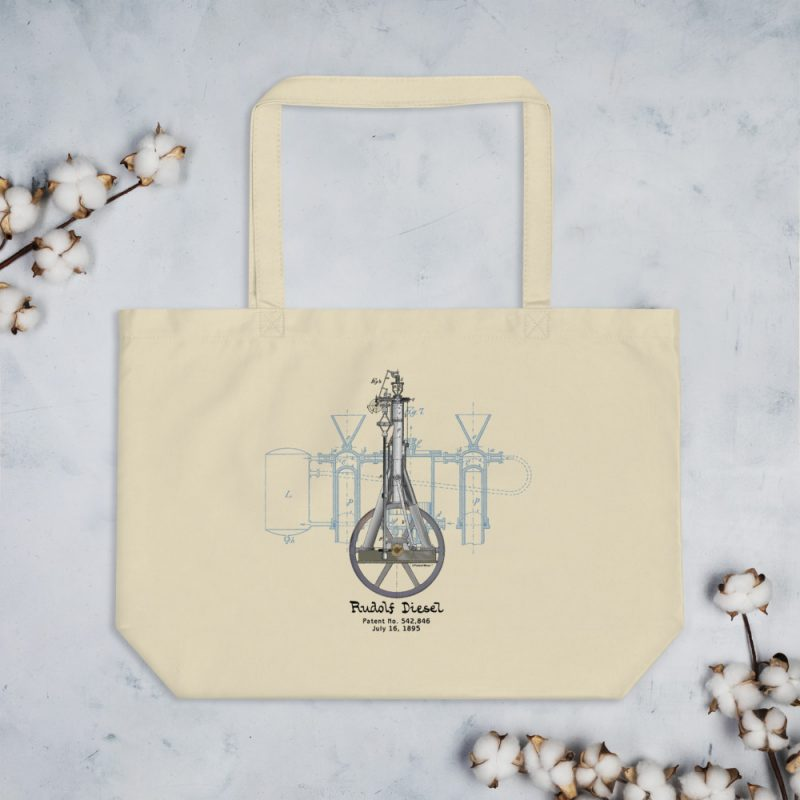 Diesel Engine Patent Tote Large Oyster