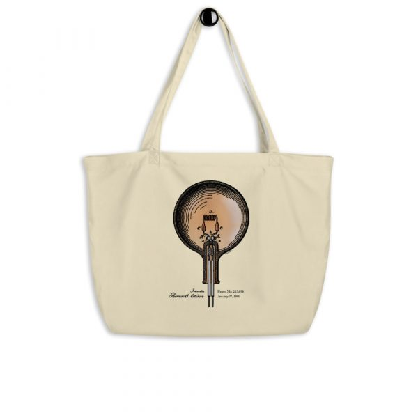 Edison Bulb Patent Tote Large Oyster hanging