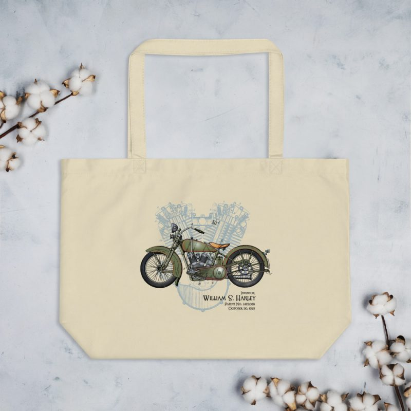 William S. Harley Patents Tote Large Oyster