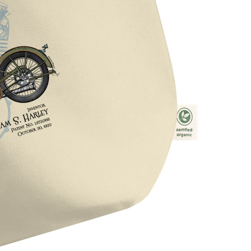 William S. Harley Patents Tote Large Oyster detail