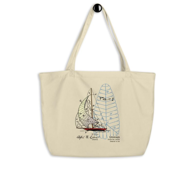 Spinnaker Patent Tote Large Oyster hanging