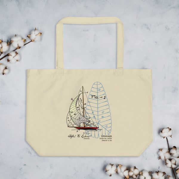 Spinnaker Patent Tote Large Oyster