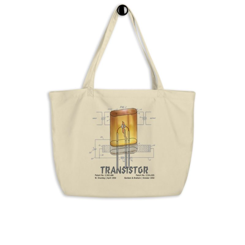 Transistor Patent Tote Large Oyster hanging