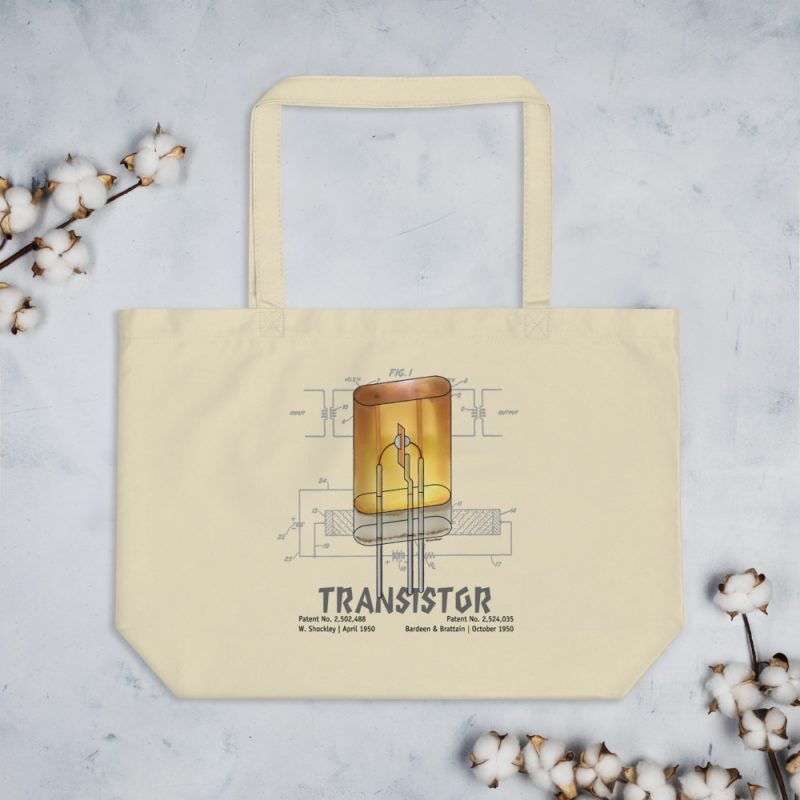 Transistor Patent Tote Large Oyster