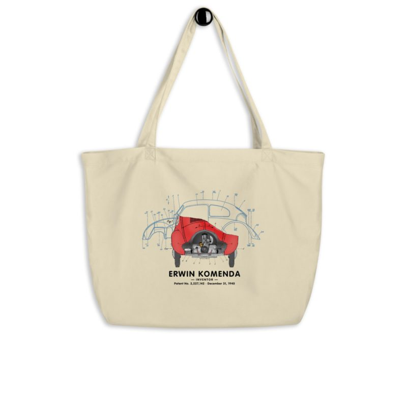 Vee Dub Bug Patent Tote Large Oyster hanging