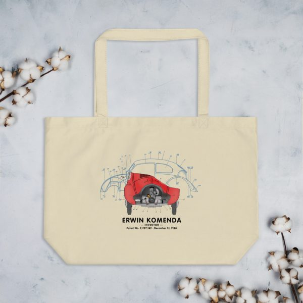 Vee Dub Bug Patent Tote Large Oyster