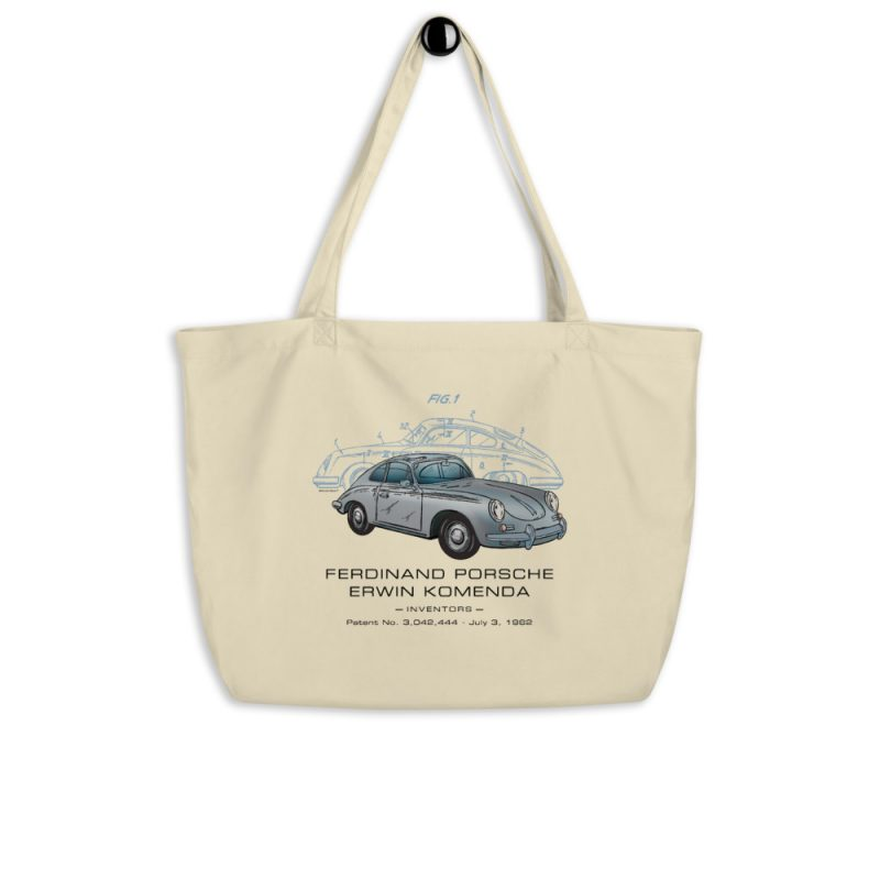 Porsche 356 Patent Tote Large Oyster hanging