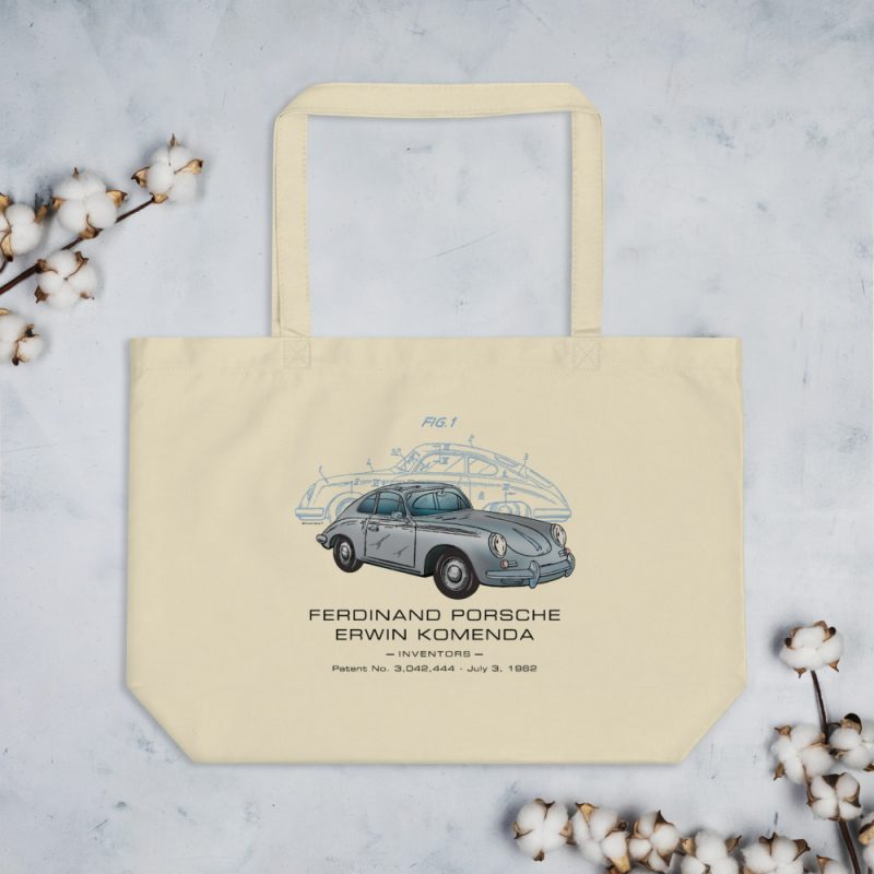 Porsche 356 Patent Tote Large Oyster
