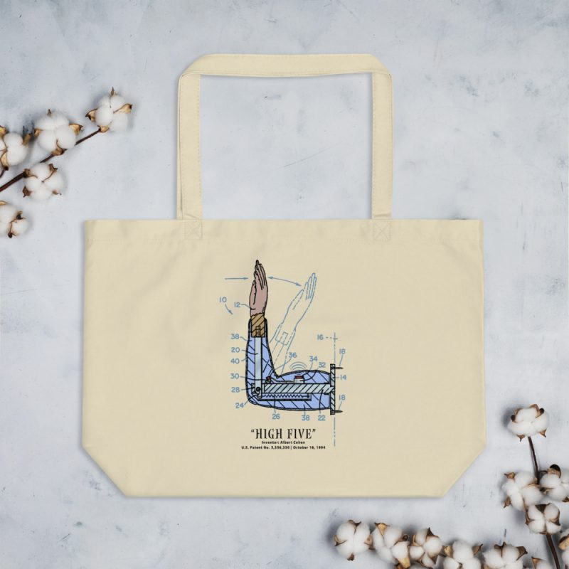 High Five Patent Tote Large Oyster