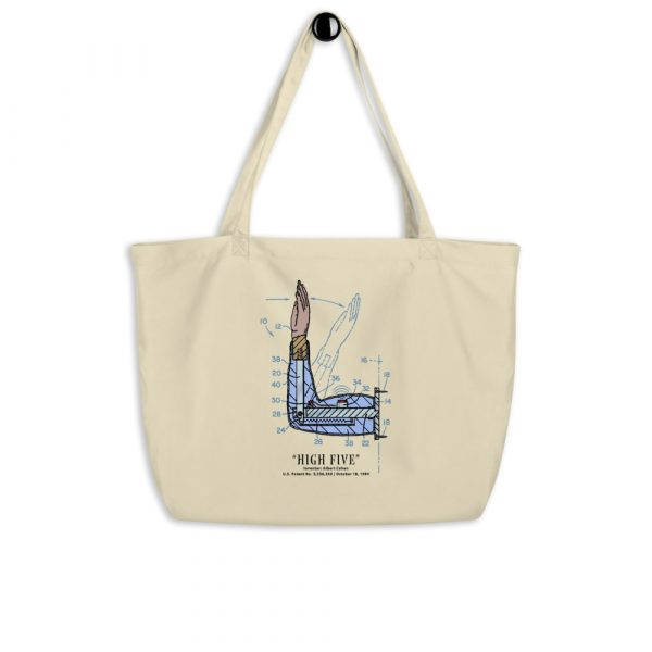 High Five Patent Tote Large Oyster hanging