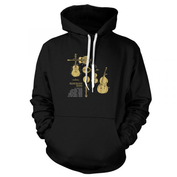 Bluegrass Band Patents Pullover Hoodie Black