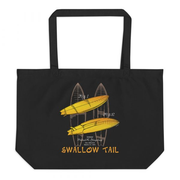 Surfboard-Swallow Tail Patent Tote Large Black