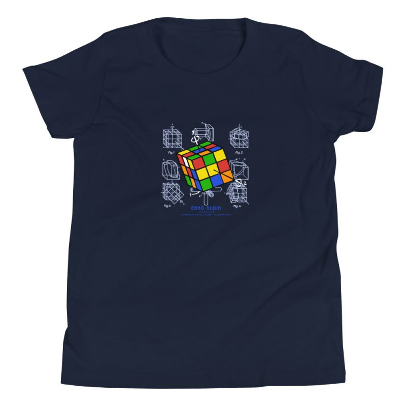 Magic Cube Youth T-Shirt (8-12 yrs) Navy
