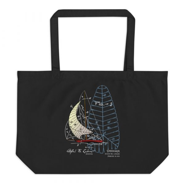 Spinnaker Patent Tote Large Black