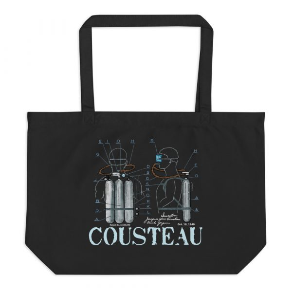 Cousteau Aqualung Patent Tote Large Black