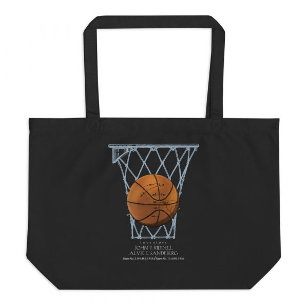 Basketball Patents Tote Large Black