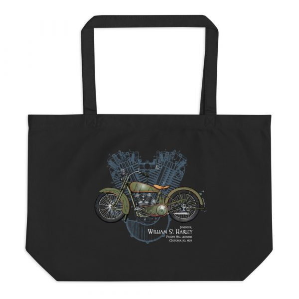 William S. Harley Patents Tote Large Black