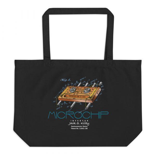 Microchip Patent Tote Large Black