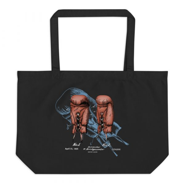 Boxing Gloves Patent Tote Large Black