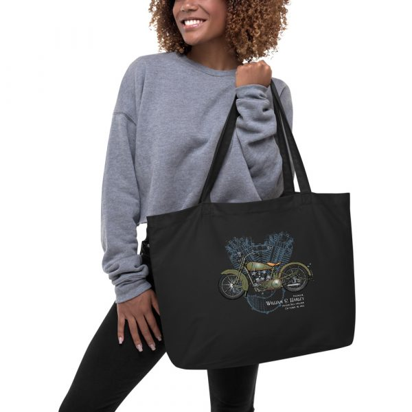 William S. Harley Patents Tote Large Black in action