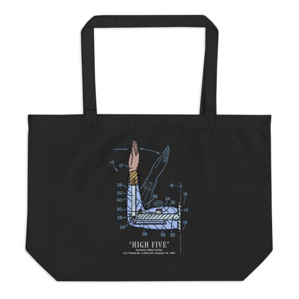 High Five Patent Tote Large Black