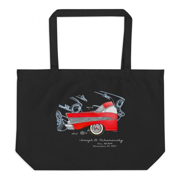 57 Chevy Patent Tote Large Black