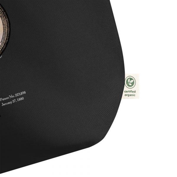 Edison Bulb Patent Tote Large Black details