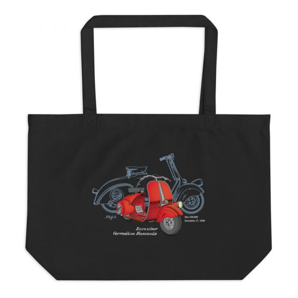 Wasp (Vespa) Patent Tote Large Black
