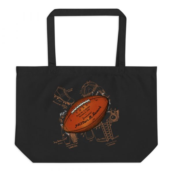 Football Solo Patent Tote Large Black