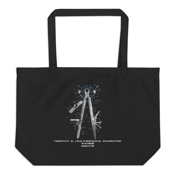 Multi-Tool Patent Tote Large Black
