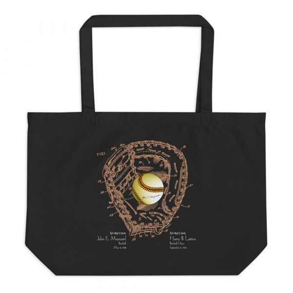Ball & Glove Patents Tote Large Black