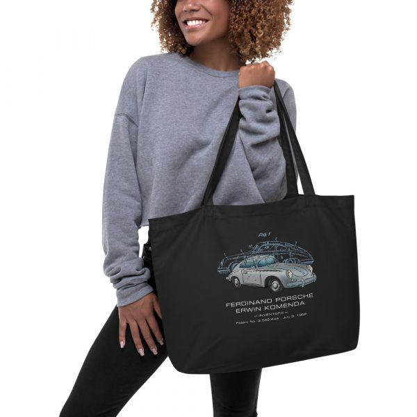 Porsche 356 Patent Tote Large Black in action