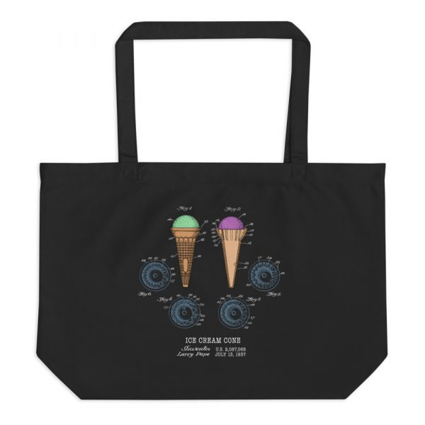 Ice Cream Cone Patent Tote—Large BLACK