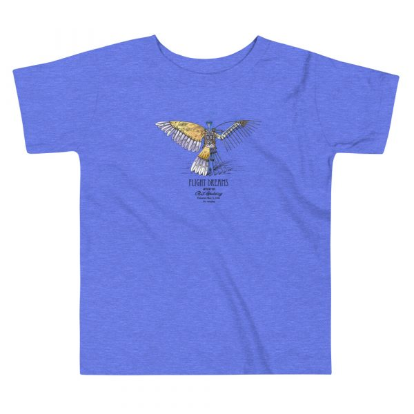 Flight Dreams Patent Youth T-Shirt (2T-5T) Heather Columbia Blue