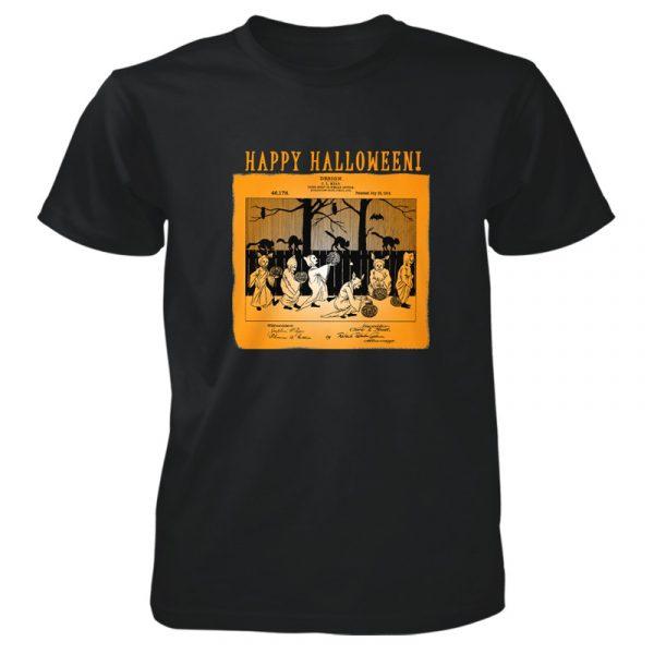 Halloween Patent T-Shirt BLACK