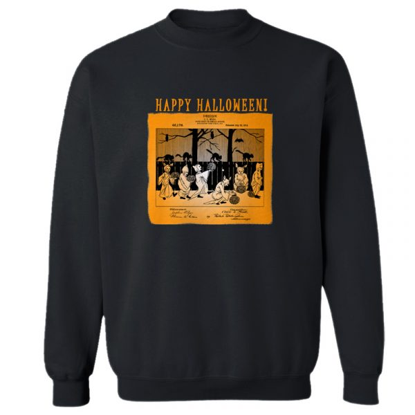 Halloween Patent Crewneck Sweatshirt BLACK