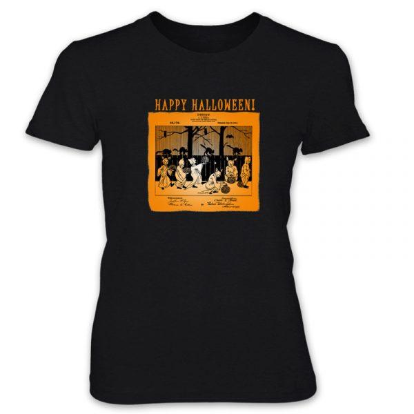 Halloween Patent T-Shirt: Women BLACK