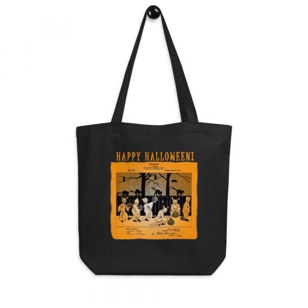 Halloween Patent Tote Bag BLACK